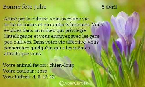 Carte Bonne Fete Julie Gratuite.Bonne Fete Julie Maman De Raphael